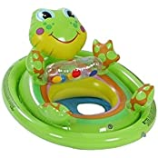 Intex Inflatable Swimming Pool See Me Sit Pool Float Rider For Kids (Frog)