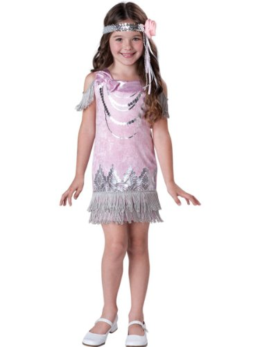 Girls Fancy Flapper 20's Decade Halloween Costume WB