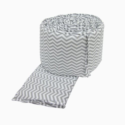 American Baby Company 100% Cotton Percale Crib Bumper, Zigzag Grey Amazon.com