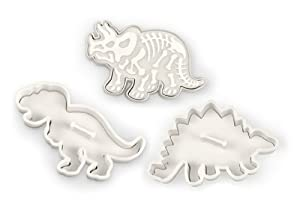 Dig-Ins Dinosaur Fossil Novelty Cookie Cutters Stampers-Set of 3 by Fred