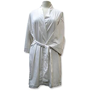 Aquis Essentials Silky Robe, One Size, Cream