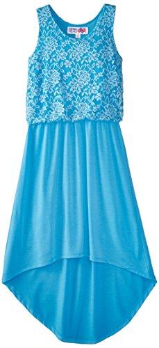 Derek Heart Big Girls' Lace to Chiffon High Low Dress derek