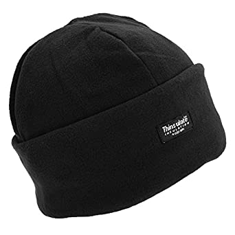 FLOSO® Ladies/Womens Polar Fleece Thermal Thinsulate Winter/Ski Hat (3M 40g) (One Size) (Black)