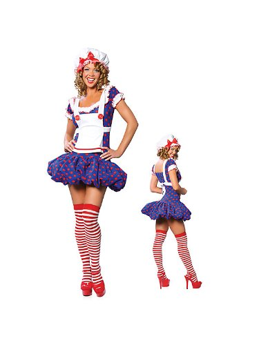 Sexy Halloween Costumes Raggedy Ann Ragdoll Costume Womens U.S. Small/Medium