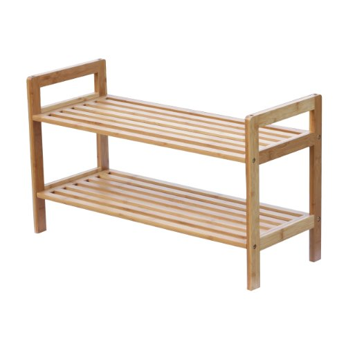 Oceanstar 2-Tier Bamboo Stackable Shoe Rack (Wooden Shoe Racks compare prices)