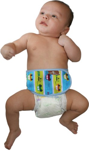 Juju Band Holistic Colic Relief Belly Binder In Cars front-48150
