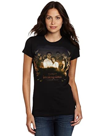 FEA Juniors Twilight Breaking Dawn Part 1 Cast Leaves and Gradient Tissue Tee, Black, Small