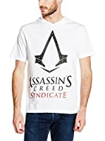 ICONIC COLLECTION - ASSASSINS CREED Camiseta Manga Corta Syndicate - Logo (Blanco)