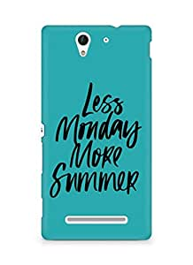 AMEZ less monday more summer Back Cover For Sony Xperia C3 D2502
