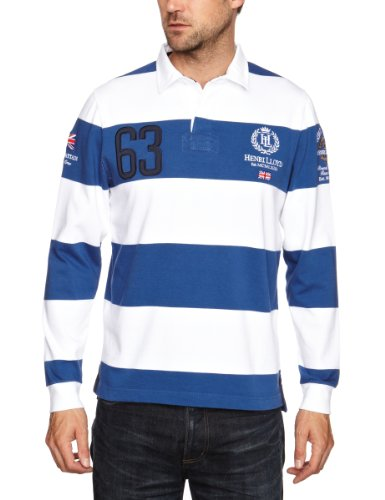 Henri Lloyd GB RWR Stripe Rugby Men's Jumper Pacific Medium