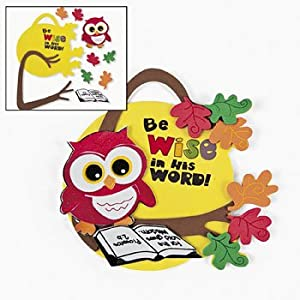 Inspirational wise owl ornament craft kit for Vacation bible school crafts for adults