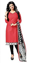 Women Icon Pink Printed Un-Stitched Chudidar Suit