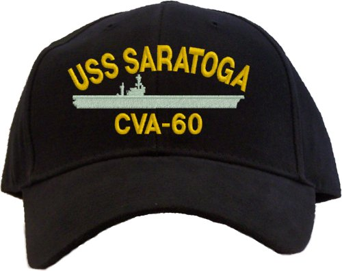 USS Saratoga CVA-60 Embroidered Baseball Cap - Black