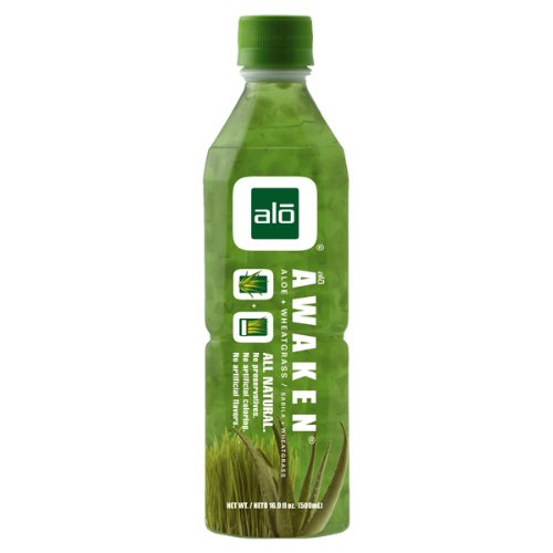Alo AWAKEN Aloe Vera and Wheatgrass, 16.9oz