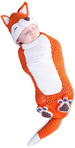 [Princess Paradise Unisex Baby Kit The Fox, Orange/White, 0/3 Months] (Fox Hat Costume)