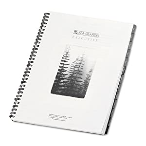 Executive Recycled Fashion Weekly/Monthly Planner Refill, 8 1/4 x 10 7