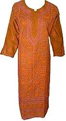 Lucknow Chikankari Cotton Long Kurti
