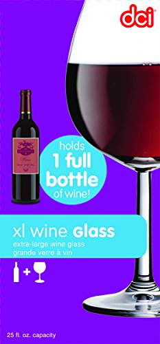 DCI XL Wine Glass; Unique Wine Glass Holds an Entire Bottle of Wine, 750ml capacity (Big Wine Glass compare prices)