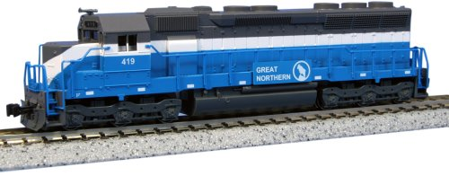 """Kato Usa Model Train Products Emd Sd45 Great Nothern #419 """"Big Sky Blue"""" N Scale Train"""