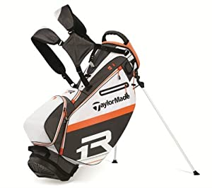 TaylorMade Apollo Stand Bag, White/Gray/Orange