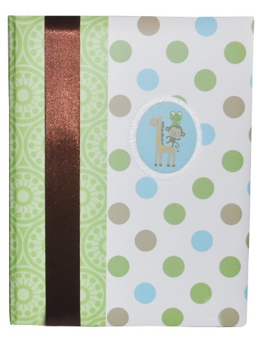 Carter's Just One You Baby's Jungle Dots First Record Book/Baby Book, Green