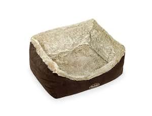 """Nobby 71171 Komfortbett für Hunde """"NELIOS"""", 60 x 48 x 19 cm, braun / beige"""