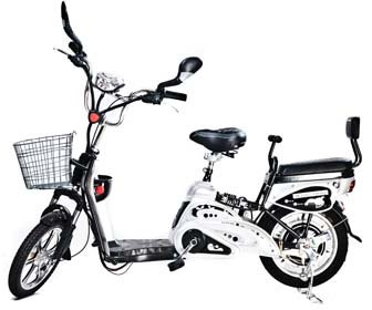 Motor Electric Bicycle x 2Adult Seats+pedal+battery 20 Mile (Model: Class2) Silver