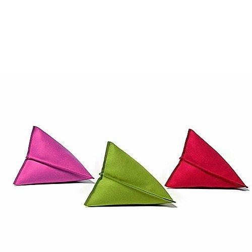 Dreieckiges Filz Kissen 44 x 44 x 35 cm viele Farben Hey Sign LILY, Hey Sign_Farbe:16 - Hellgrau