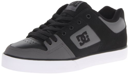 Dc Men'S Pure Lace-Up Fashion Sneaker,Black/Black/Dark Grey,10.5 M Us front-1023375