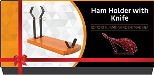 H01 Quality Professional Serrano Iberian Ham Stand Gondola Rack Holder + Free Knife in Box Gift Idea
