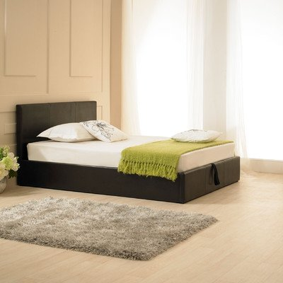 Madrid Ottoman Bed Frame Size: Small Double (4'), Colour: Brown