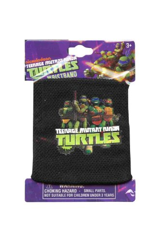 Black Teenage Mutant Ninja Turtles Mesh Wristband - Kids Wrist Sweatband