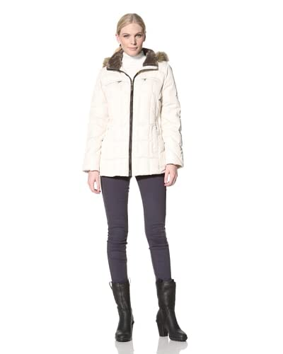 Larry Levine Women's Down Jacket with Hood