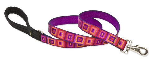 "Lupine 1"" Ruby Cube 6-Foot Dog Lead"