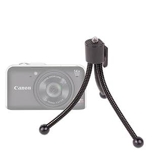 Trépied de poche flexible pour appareil photo Canon Powershot dont les modèles G12, D10, S95, SX230 HS et A3300 IS