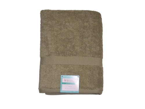 Revere Mills Waverly Modern Essentials Solid Color 100-Percent Ring Spun Cotton Bath Towels, Green Shadow