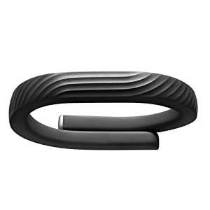 Jawbone JL01-52L-EU1 UP24 Onyx Bluetooth Fitnessarmband für Apple iOS und Android Größe L schwarz