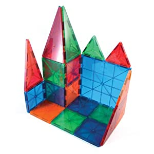 """Picasso Tiles ® 60 piece set Magnet Building Tiles Clear 3D color Magnetic Building Blocks - Creativity beyond Imagination! - Educational, Inspirational, Conventional, and Recreational!"""" from PicassoTiles"""