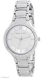 Anne Klein Women's Silver Tone Dial Quartz Bracelet Watch AK/2099SVSV