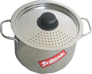 frabosk pasta pot with strainer lid steel 6 0 litres 22 cm diameter kitchen home. Black Bedroom Furniture Sets. Home Design Ideas