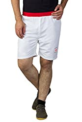 Greenwich United Polo Club Men's Polyester Shorts (GUPC5_White_XX-Large)