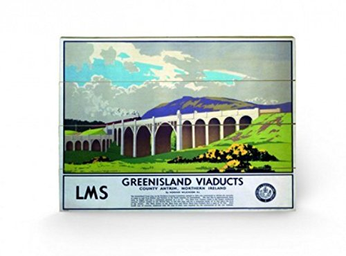 Vintage - Greenisland Viaducts Cuadro De Madera (60 x 40cm)