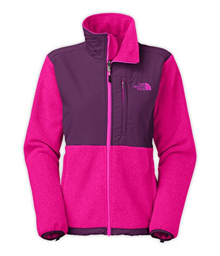 New The North Face Women's Denali Fleece Jacket Recycled Fuchsia Pink Htr/Currant Purple Small