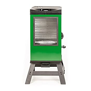 Masterbuilt 20077116 4-Rack Digital Electric Smoker with Leg Kit Cover and Gloves, 30