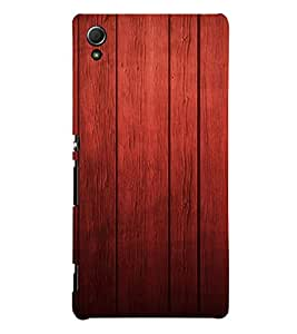 PrintVisa Rich Wood Pattern 3D Hard Polycarbonate Designer Back Case Cover for Sony Xperia Z3 + Plus
