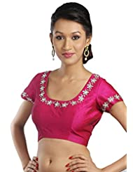 Pink Plain Royal Silk Blouse Fabric Material Piece