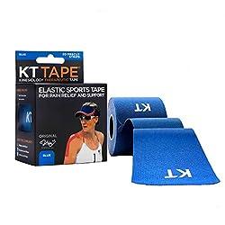 Kt Tape Elastic Sports Tape Original,Pre-Cut,20 Strip,Ctn,BLUE
