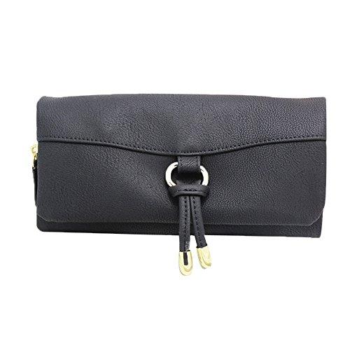 Longra Le donne sacchetto della carta borsetta Holder Qualità (Nero)
