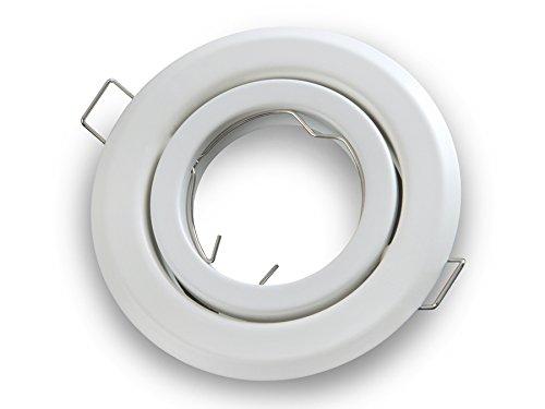 PREISHIT!!! Weiss Matt Einbau-Strahler Einbau-Spot Rund Schwenkbar GU10 /GU 5,3 / MR 16 Einbau-Leuchte (Weiss Matt, 1-er Pack) Led-Line Beta