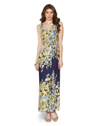 Monsoon Womens Delphinium Maxi Dress Size 2 Multi